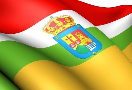 Flagge Rioja Spanien