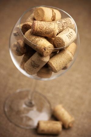 Kork Korken Weinglas