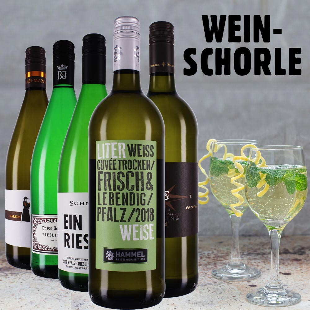 Wein Schorle mit Liter Riesling